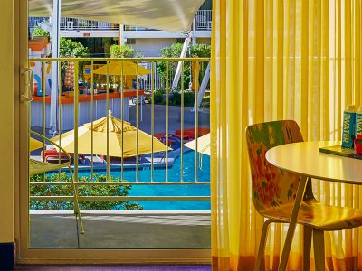 Rooms balcony with view pools