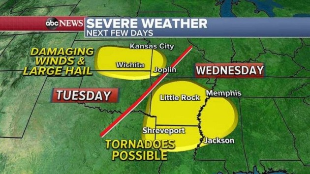 New storm to bring severe weather to Central and Southern US, record heat for millions