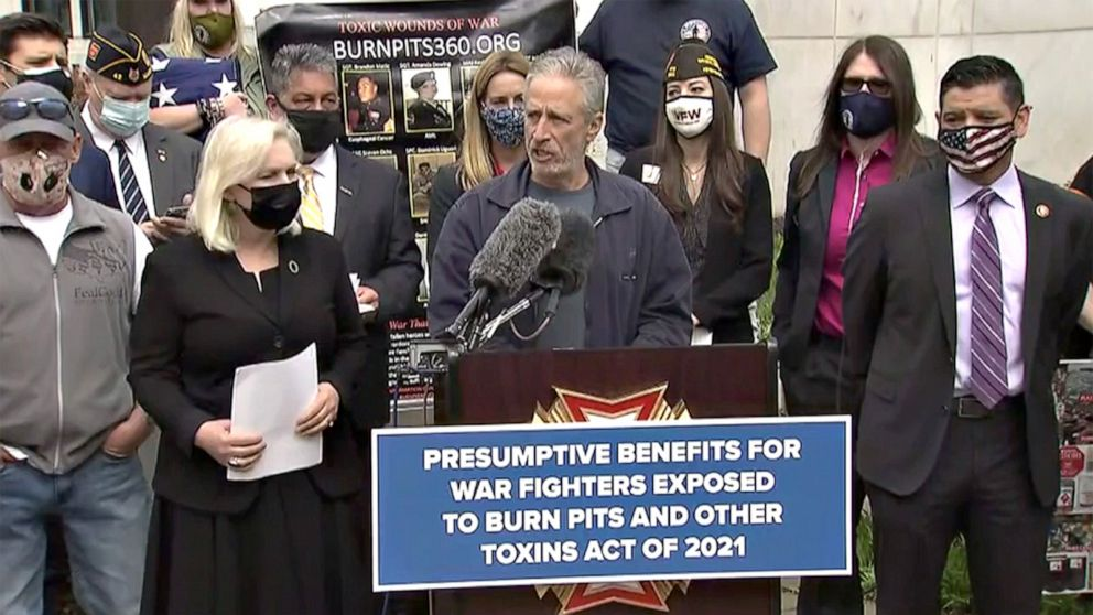 Jon Stewart, lawmakers announce legislation to help veterans impacted by burn pits