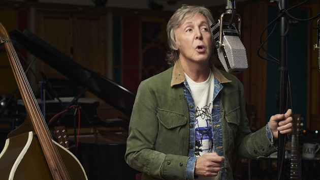 Paul McCartney taking part in producer Mark Ronson's new Apple TV+ series