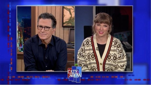 Here's why fans think Taylor Swift was teasing her re-recorded '1989' release on Colbert