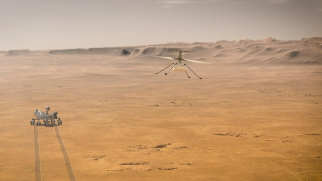 NASA's Mars helicopter makes first flight on another planet