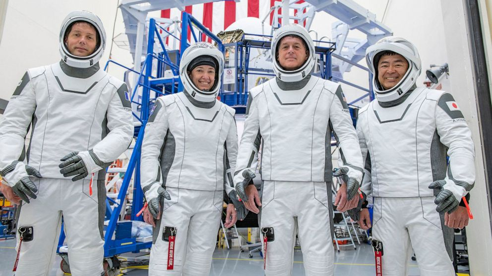 SpaceX launches four astronauts to ISS on recycled rocket and capsule