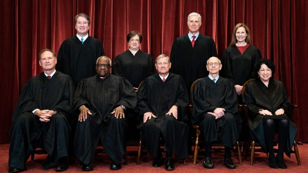 Vaccinated justices pose for Supreme Court photo with new Justice Barrett