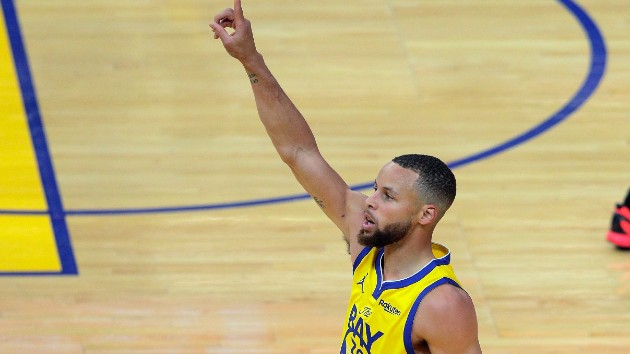 Stephen Curry sets new NBA record for 3-pointers in a month