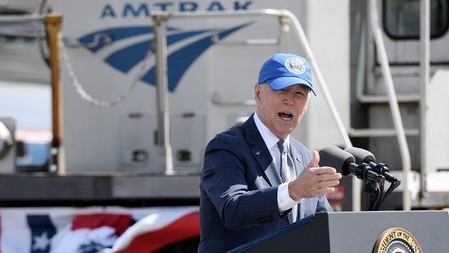 Biden pitches infrastructure plan at Amtrak anniversary