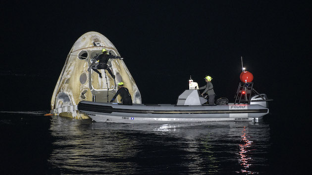 NASA-SpaceX mission crew splash down in Gulf of Mexico, return home from International Space Station
