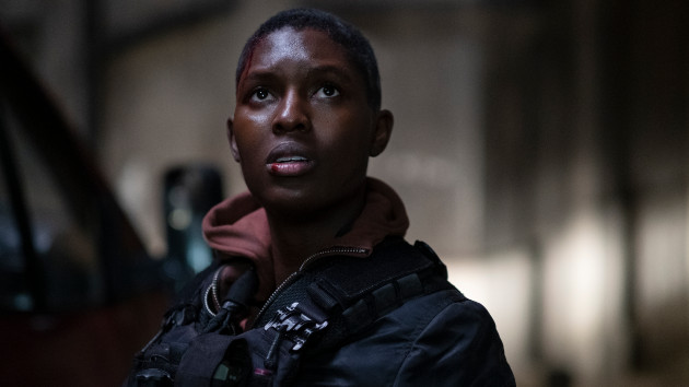 """Jodie Turner-Smith says she was """"really scared"""" filming 'Without Remorse' while pregnant"""