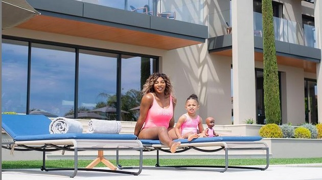 Serena Williams matches with daughter Olympia and her doll in adorable photo