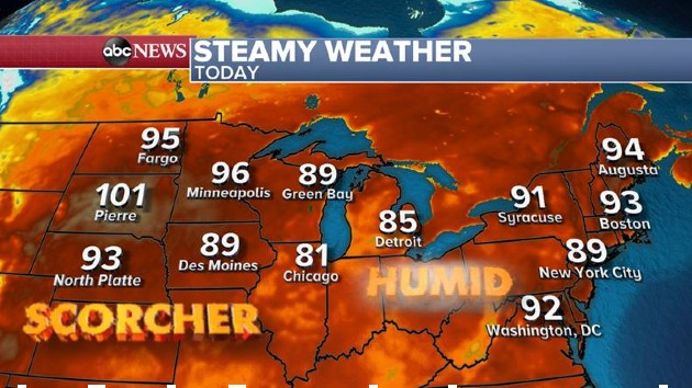 Dangerous heat takes over Midwest, Northeast: Latest