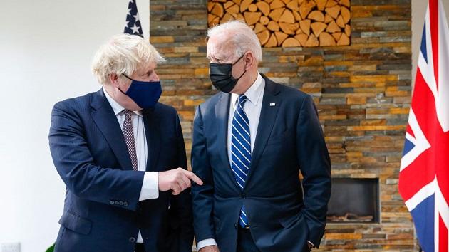 Biden, Johnson strike friendly tone ahead of G-7 summit