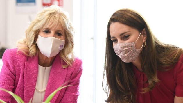 Jill Biden, Kate Middleton visit school to focus on early childhood education
