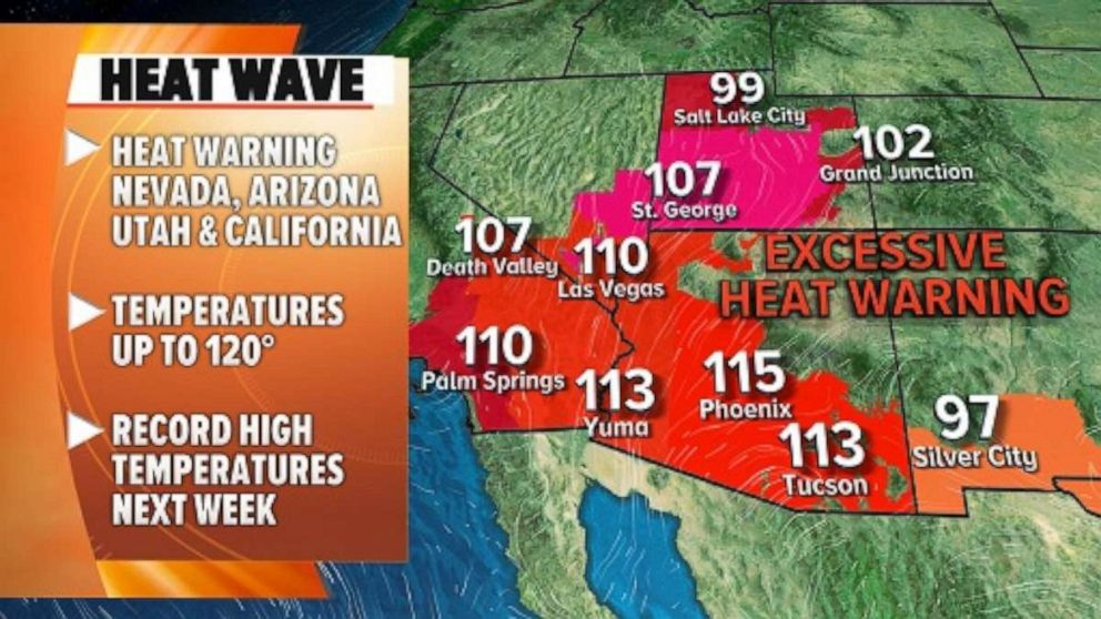 Dangerous heat wave headed to the West: Latest forecast
