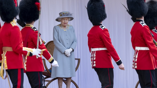 Queen celebrates 1st Trooping of the Colour since Prince Philip's death