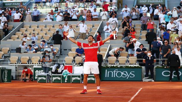 Djokovic wins French Open, halfway to calendar Grand Slam