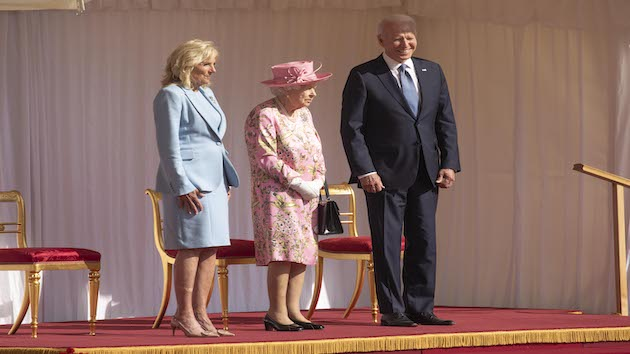 Bidens meet privately with Queen Elizabeth II after royal salute, inspecting guards