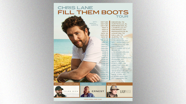 """Chris Lane will """"Fill Them Boots"""" this fall with a headlining tour"""