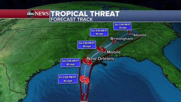 Tropical storm warnings from New Orleans to Pensacola: Latest forecast