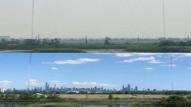 Much of US under ominous, hazy sky as smoke spreads from Western wildfires