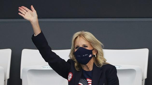 Jill Biden cheers on Team USA as Olympic Games get underway in Tokyo, Japan