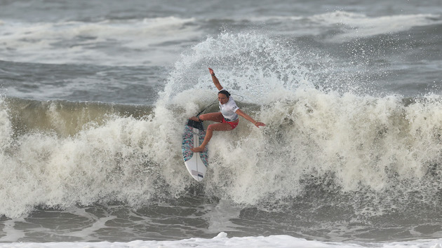 American Carissa Moore rides a wave to Olympic history