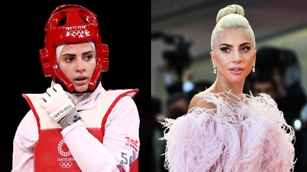 Lady Gaga lookalike spotted competing in the Olympics
