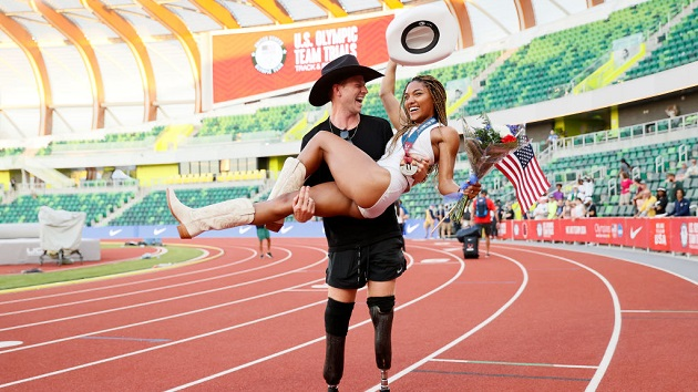 These dating US track athletes are taking their love to the Tokyo Olympics