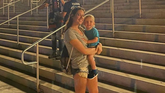 Mom sprints to tackle toddler who ran onto field during Major League Soccer game