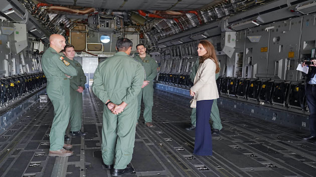 Duchess Kate visits teams who assisted in Afghanistan evacuation