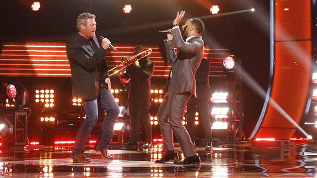 Blake Shelton joins 'The Voice' judges for mashup of soulful classics