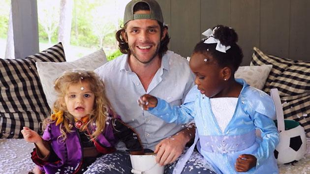 Thomas Rhett passes on love of music to daughter Willa Gray