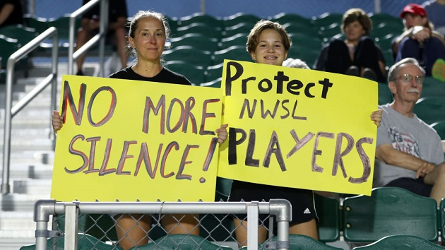 Women's soccer players hold mid-match protest after abuse allegations: 'We will not be silent'