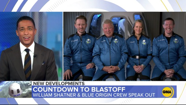 William Shatner channels Captain Kirk for historic Blue Origins space flight