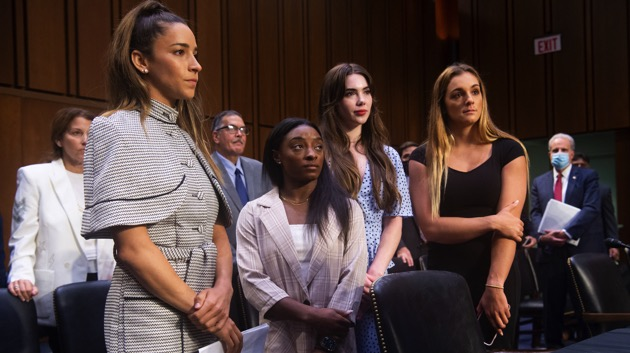 Gymnasts call on Congress to dissolve US Olympics board over Larry Nassar case