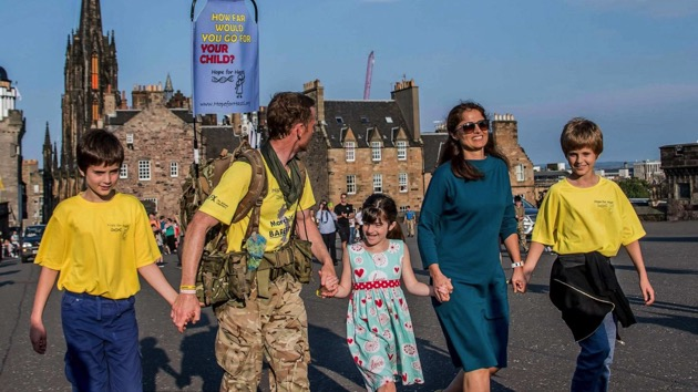Dad walking 1,200 miles to fund research for daughter's treatment