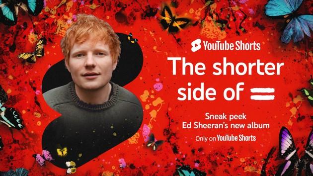 Ed Sheeran previews all 14 songs on his new album via YouTube Shorts