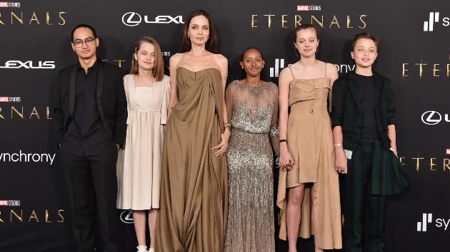 Angelina Jolie is thrilled her kids are raiding her closet