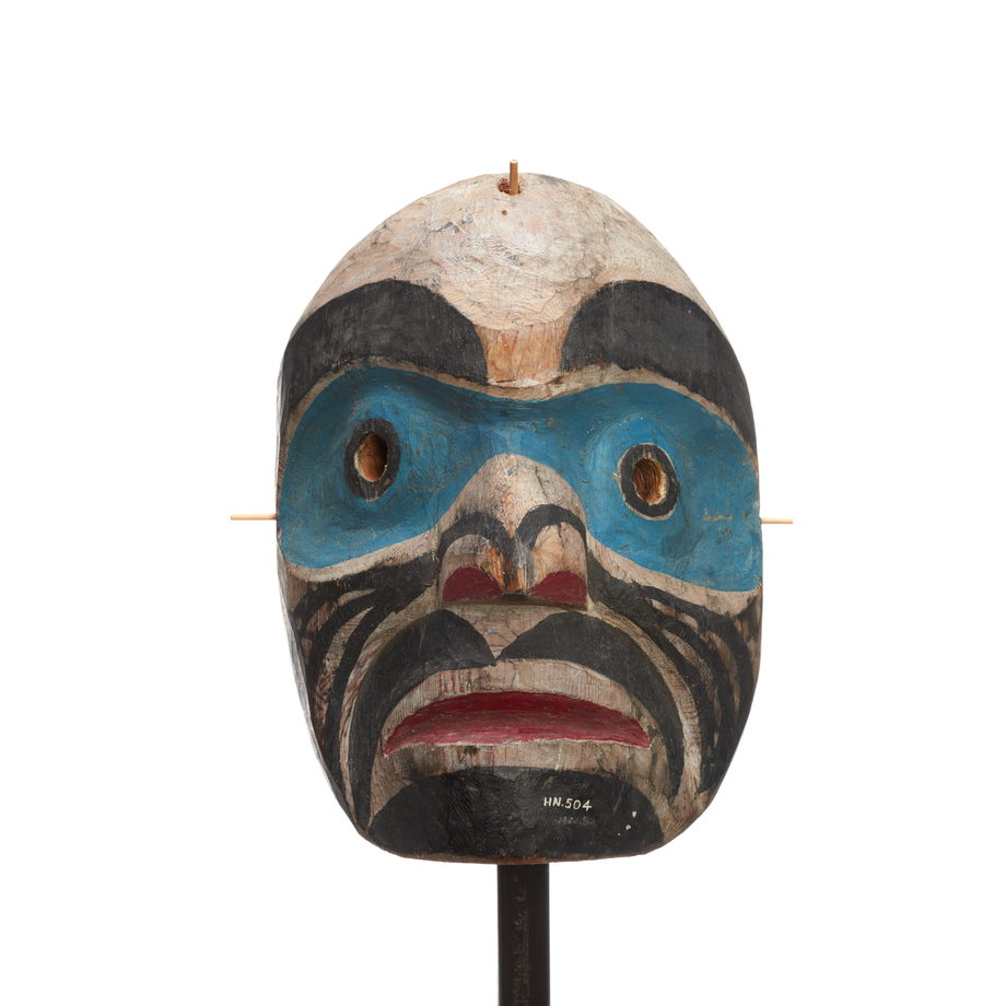 Hayakantalał Speaker mask, light blue bands around eyes, black stripes on cheek, chin patch eyebrows and moustache