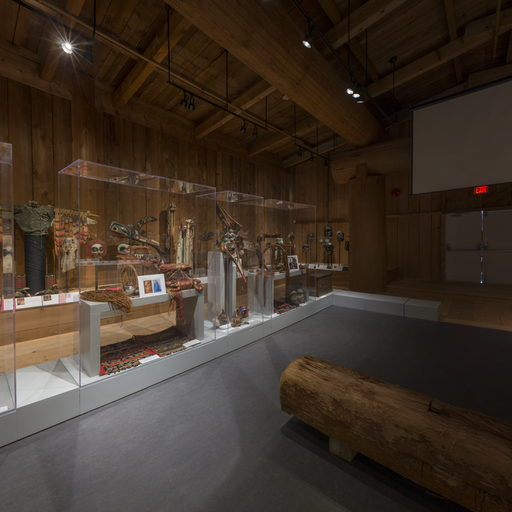 Image shows the back south corner of the Potlatch Gallery.