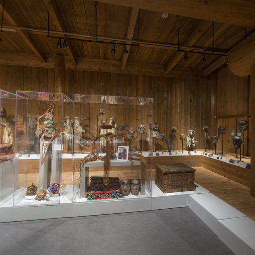 Images shows centre and southwest corner of the Potlatch Gallery.