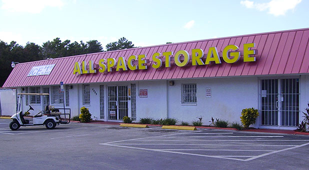 Photograph of indoor self storage units at All Space Self Storage