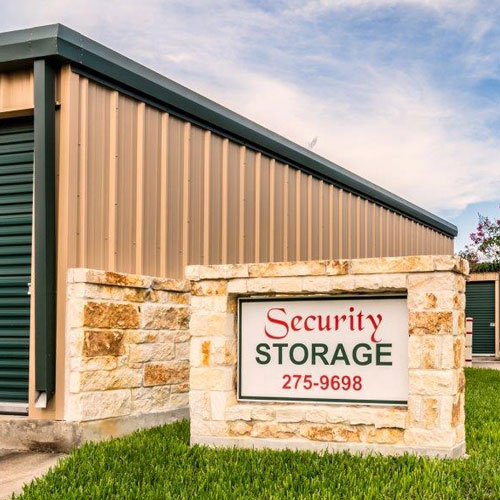 Security Storage front sign