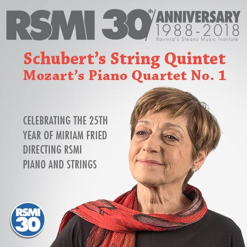 Celebrating 30 Years of RSMI Piano and Strings