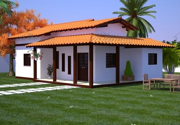 Planta de casa com varanda e 3 quartos c d 91 so projetos for Paginas para construir casas
