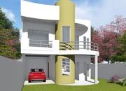 Planta de casa amplo moderno sobrado