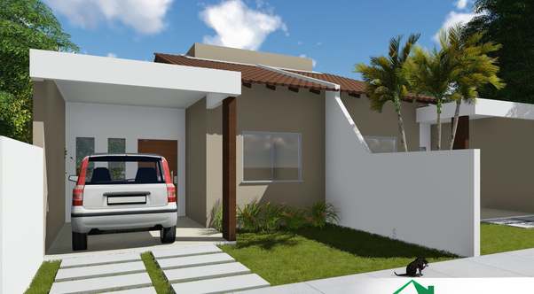 Planta de casa terrea geminada img 1