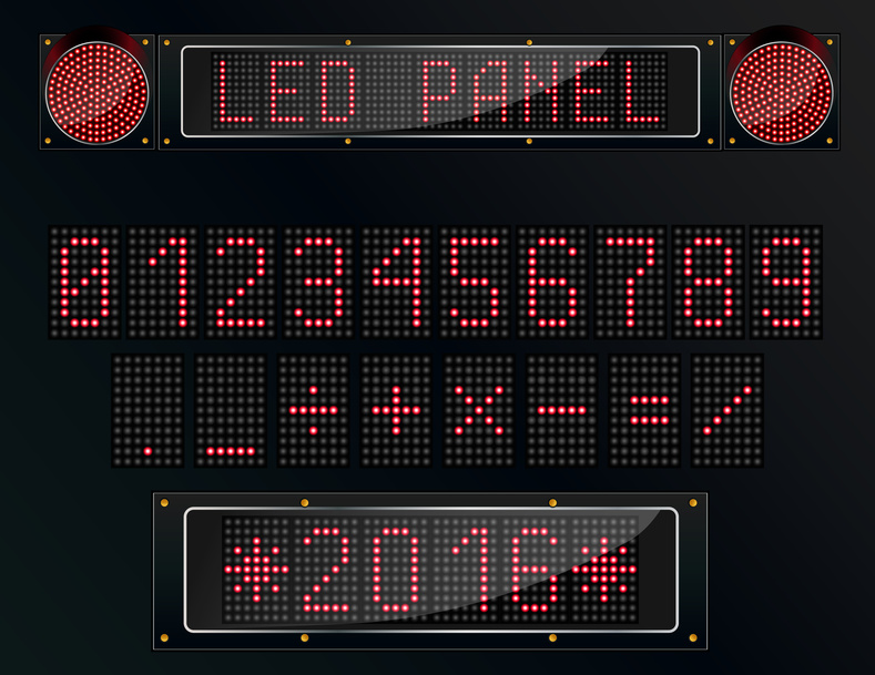 Electronic led signs
