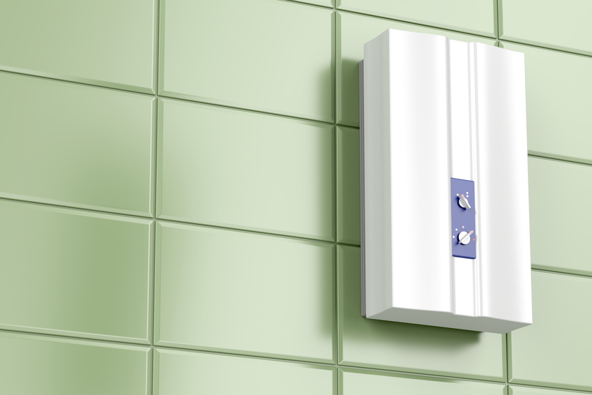Install a tankless hot water heater