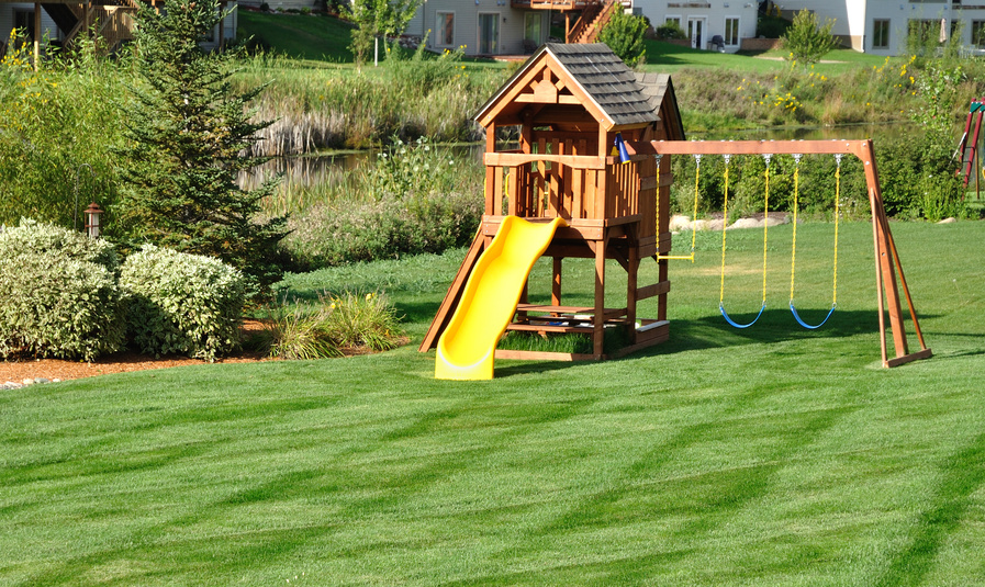 Backyard play equipment