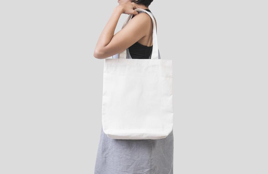 compressed tote bag
